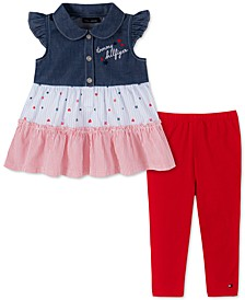 Baby Girls 2-Pc. Tiered Ruffle Tunic & Leggings Set