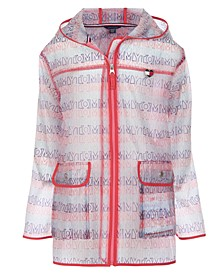 Toddler Girls Hooded Raincoat