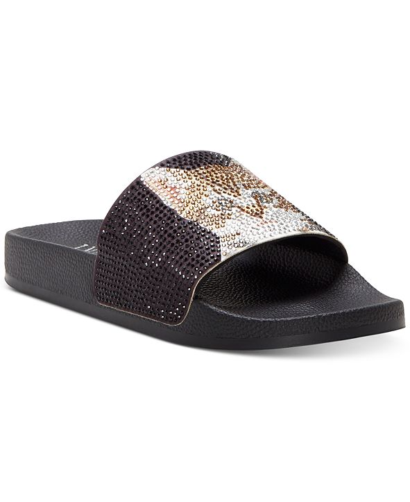 INC International Concepts INC Women's Peymin Pool Slides, Created for Macy's