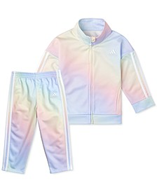 Toddler Girls 2-Pc. Iridescent-Print Tricot Jacket & Jogger Pants Set