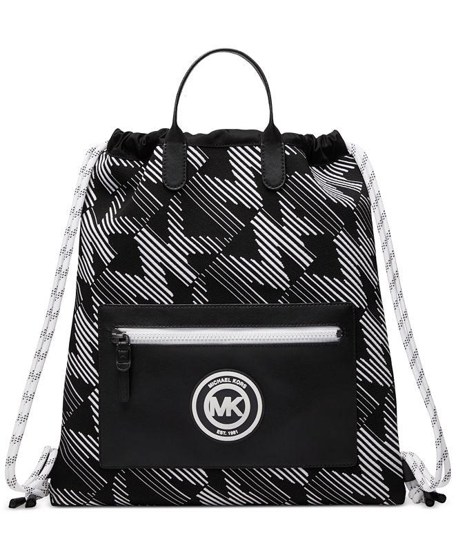 Michael Kors Men's Brooklyn Signature Drawstring Backpack