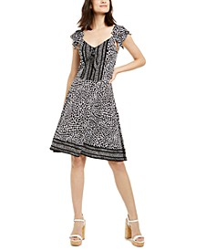 Animal-Print Dress, Regular & Petite
