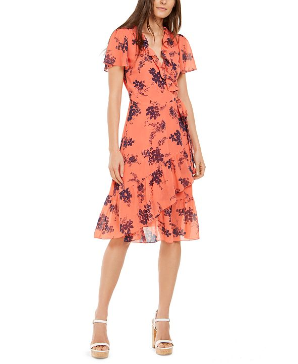 Michael Kors Printed Wrap Dress