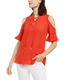 Cold-Shoulder Top, Regular & Petites