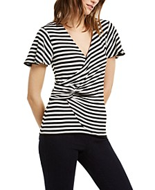 Striped Twisted Top, Regular & Petite