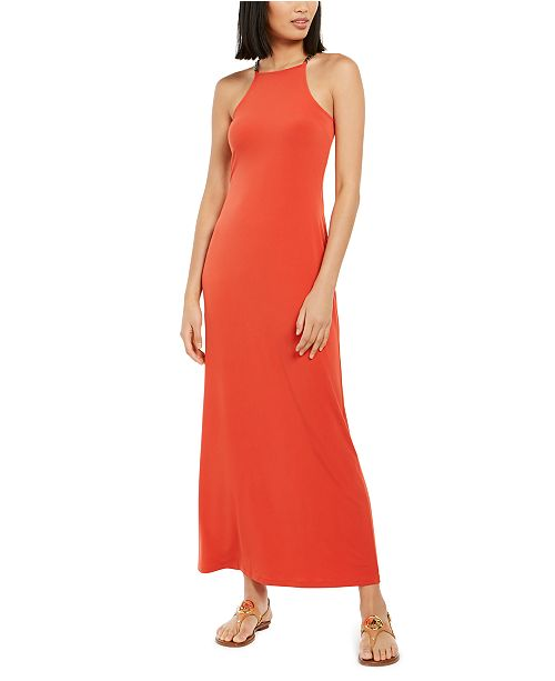 Michael Kors Chain-Link-Strap Maxi Dress