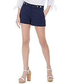 Button-Detail Shorts
