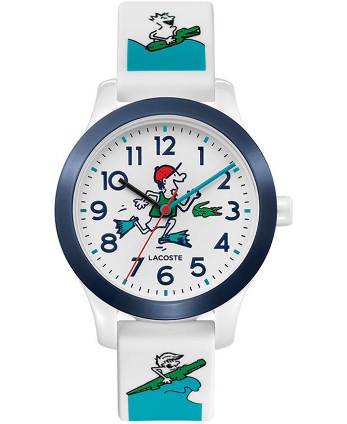 Lacoste - Kid's Swiss 12.12 White Silicone Strap Watch 32mm