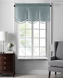"Colette Faux Silk Tassel Scallop Window Valance, 48""x21"""