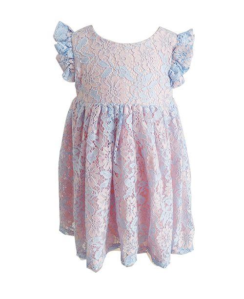 Popatu Baby Girl Lace Tulle Dress