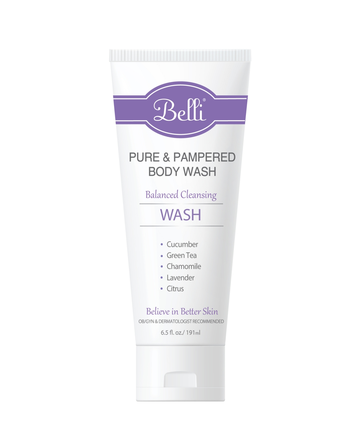 Belli Skin Care Pure and Pampered Body Wash, 6.5 fl oz