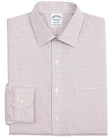 Men's Regent Slim-Fit Non-Iron Performance Stretch Check Supima Cotton Dress Shirt
