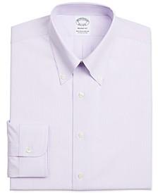 Men's Regent Slim-Fit Non-Iron Performance Stretch Supima Cotton Striped Dress Shirt