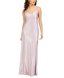 Juniors' Charmeuse Maxi Dress