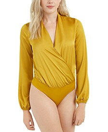 Allie Surplice-Neck Bodysuit