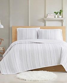 Farmhouse Stripe 3-Piece King Quilt Set