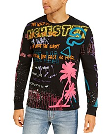 Men's Long-Sleeve Neon Graphic T-Shirt