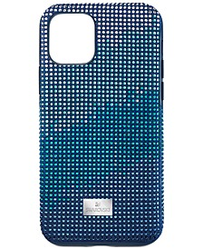 Crystalgram Silver-Tone Crystal & Fabric iPhone 11 Pro Smartphone Case with Bumper
