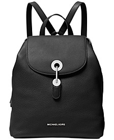 Raven Leather Backpack
