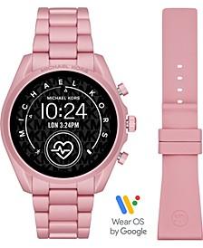 Access Unisex Gen 5 Bradshaw Blush Aluminum Bracelet & Blush Silicone Strap Touchscreen Smart Watch 44mm