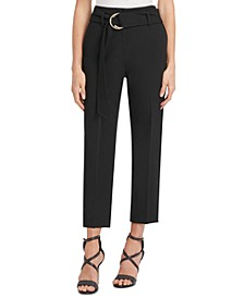 D-Ring-Belted Ankle Pants