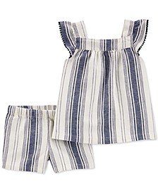 Toddler Girls 2-Pc. Striped Top & Shorts Set