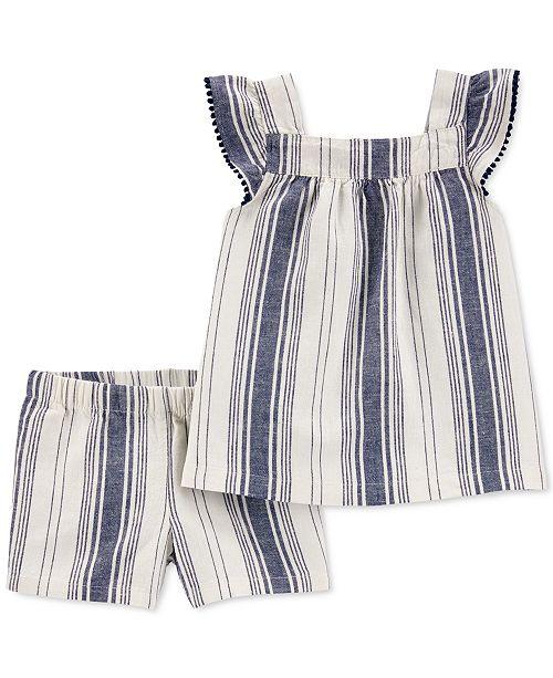 Carter's Toddler Girls 2-Pc. Striped Top & Shorts Set