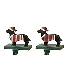Dachhound Stocking Holder 2 Piece