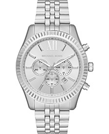 Men's Chronograph Lexington Silver-Tone Aluminum Bracelet Watch 44mm