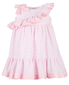 Baby Girls Striped Ruffle Dress