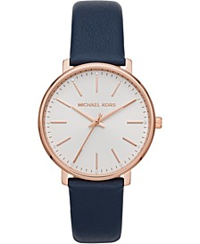 Women's Pyper Navy Leather Strap Watch 38mm