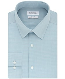 Calvin Klein Men's STEEL+ Slim-Fit Non-Iron Performance Stretch Micro Check Dress Shirt