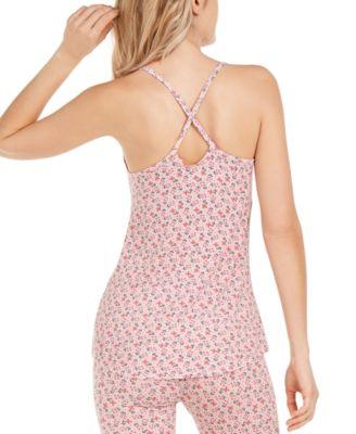 Jenni Two-Piece Shorty Pajama Set Floral Print Lace Trim