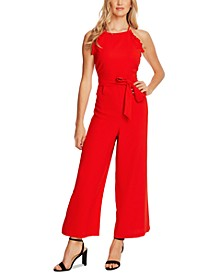 Sleeveless Ruffled Jumpsuit
