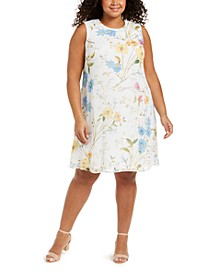 Plus Size Floral-Print Shift Dress