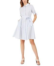 Cotton Striped Shirtdress