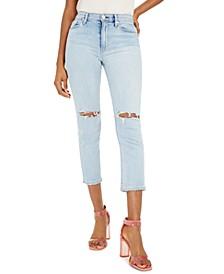 Barbara Ripped Straight-Leg Jeans