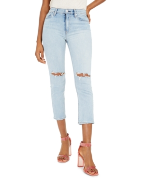 Hudson Jeans Barbara Ripped Straight-Leg Jeans