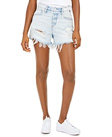 Jade Ripped Cotton Boyfriend Shorts