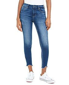 Connie Cropped Curve-Fray-Hem Skinny Jeans