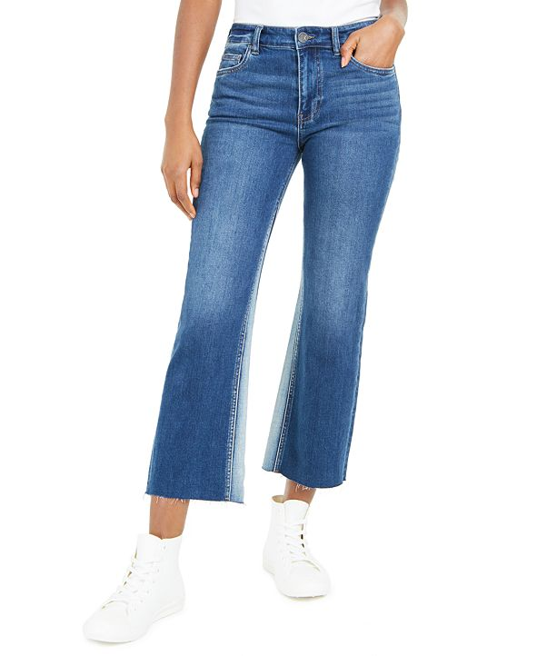 Kut from the Kloth Kelsey High Rise Ankle Flare Raw Hem