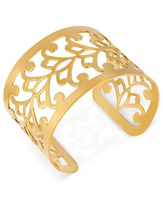 Hint of Gold 14k Gold-Plated Filigree Cuff Bracelet