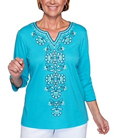 Easy Street Embroidered Top