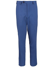 Big Boys Classic-Fit Blue Textured Suit Pants