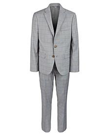 Big Boys Classic-Fit Gray Windowpane Suit Separates