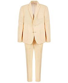 Big Boys Classic-Fit Yellow Linen Suit Separates