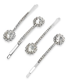 4-Pc. Silver-Tone Crystal Halo Hair Pin Set, Created for Macy's
