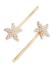 2-Pc. Gold-Tone Imitation Pearl Starfish Hair Pin Set, Created for Macy's