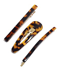 3-Pc. Gold-Tone Tortoise-Look Hair Clip Set, Created for Macy's
