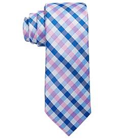 로렌 랄프로렌 보이즈 넥타이 Lauren Ralph Lauren Big Boys Pink Gingham Check Silk Tie,Pink